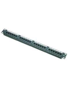PATCH PANEL DE 24 PUERTOS UTP/RJ45-FORMATO ENRACKABLE-ADMITE