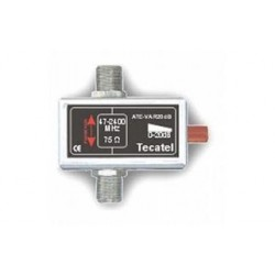 ATENUADOR TECATEL RF+FI VARIABLE, 20 dB CONECTOR F