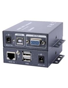 EXTENSOR VGA/USB POR UTP - EMISOR Y RECE