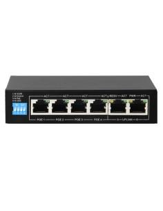 Switch PoE - 4 puertos PoE + 2 Uplink RJ45 - Velocidad hasta