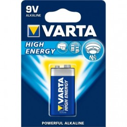 PILA ALKALINA HIGH ENERGY VARTA 9V