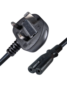 Cable a enchufe - Conector QT2 - Compatible con enchufes UK