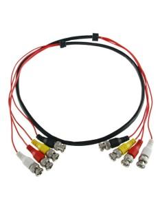 Cable preparado múltiple - BNC macho a BNC macho - 4 enlaces