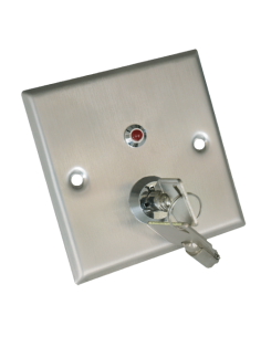 PULSADOR CON LLAVE - NO/NC/COM/TAMP/LED