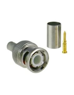 Conector - BNC para crimpar - Compatible con RG59 - 25 mm (F