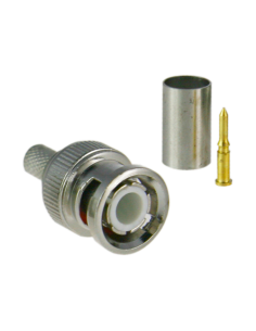 Conector SAFIRE - BNC para crimpar - Compatible con Microcoa