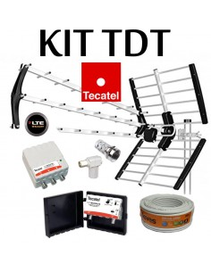 KIT ANTENA TECATEL BKM-18+KIT AMPLIFICACION+CABLE20M+CONECTO