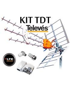 KIT ANTENA TELEVES 149942 + FUENTE ALIMENTACION+CONECTORES