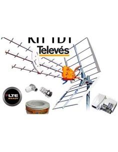 KIT ANTENA TELEVES 149902 + ALIMENTADOR PREVIO+CABLE 20MT +C