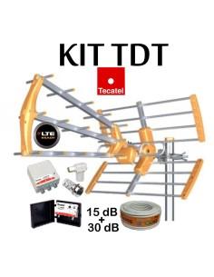 KIT ANTENA TECATEL BKM-15 + CABLE 20MT + AMPLIFICACION LTE30