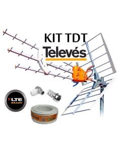 KIT ANTENA HD + ROLLO 20MT + CON TELEVES K149902CABLE