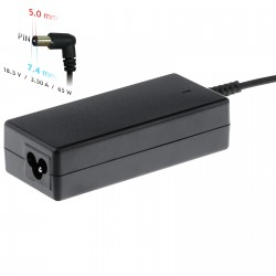 TRANSFORMADOR CARGADOR PARA PC PORTATIL HP 18,5V-3,5A 7,