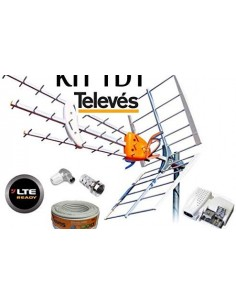 KIT ANTENA TELEVES LTE2 700Mh +20MT CABLE+FUENTE+CONECT