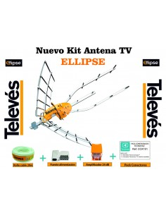 KIT ANTENA TELEVES 148922+AMPLIF+CONECT+ ROLLO 20M CH 48 5G